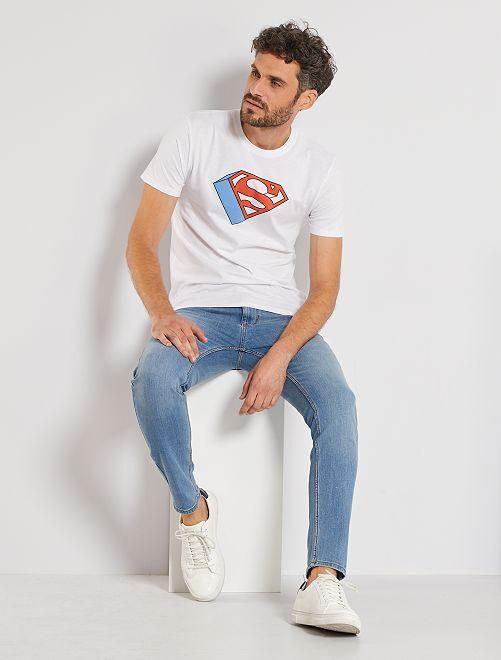 Camiseta logo 'Superman'                             blanco