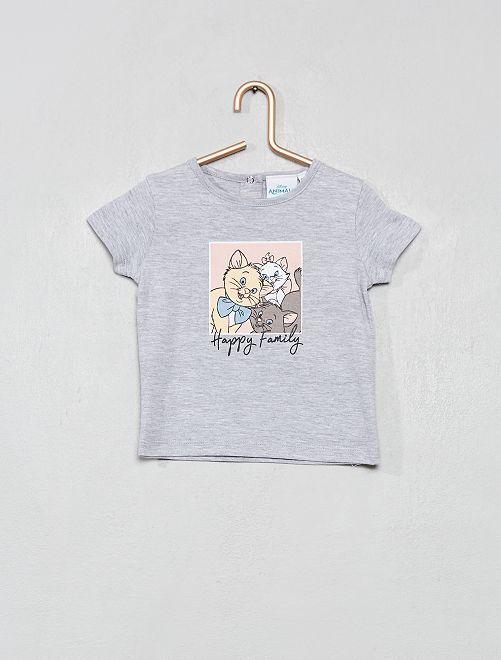 Camiseta 'Los Aristogatos'                             gris chiné