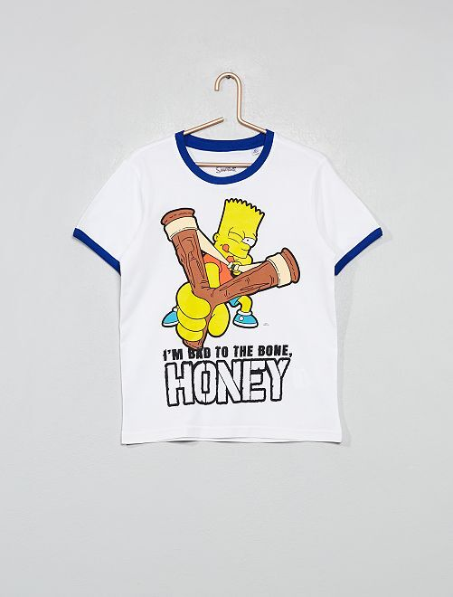 Camiseta 'Los Simpson'                                                     blanco/gris Chico