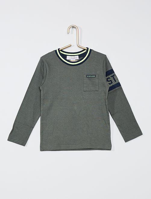 Camiseta manga larga                             caqui
