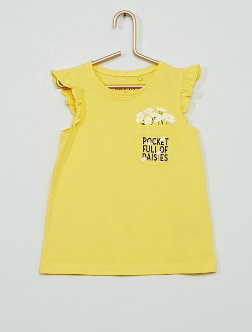 Camiseta 'margarita'                                         amarillo