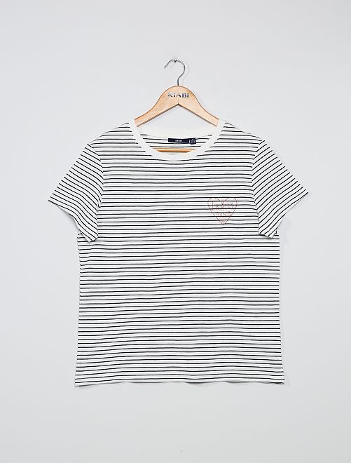 Camiseta marinera                             BLANCO