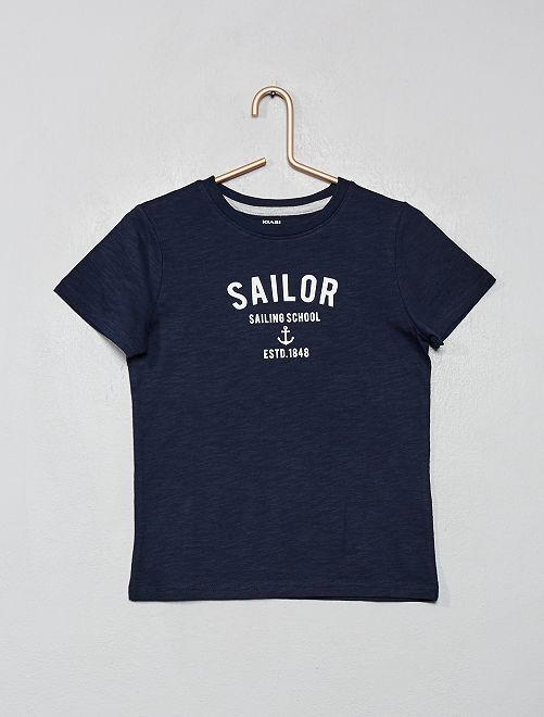 Camiseta marinera 'eco-concepción'                                         AZUL