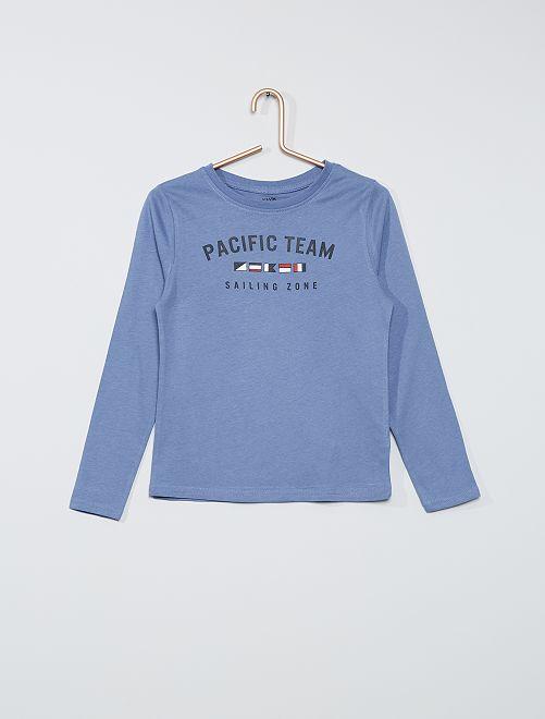 Camiseta marinera manga larga                                         AZUL