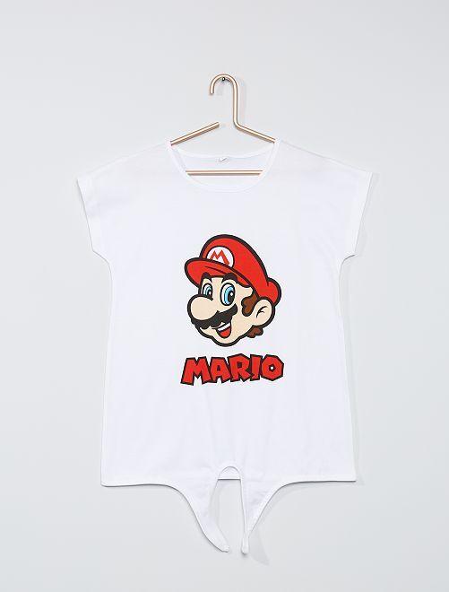 Camiseta 'Mario'                             blanco
