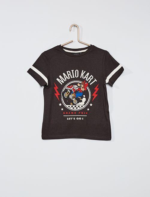 Camiseta 'Mario Kart'                             gris oscuro