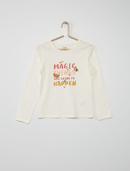 Camiseta 'mariposas'                                                                                                                 BLANCO