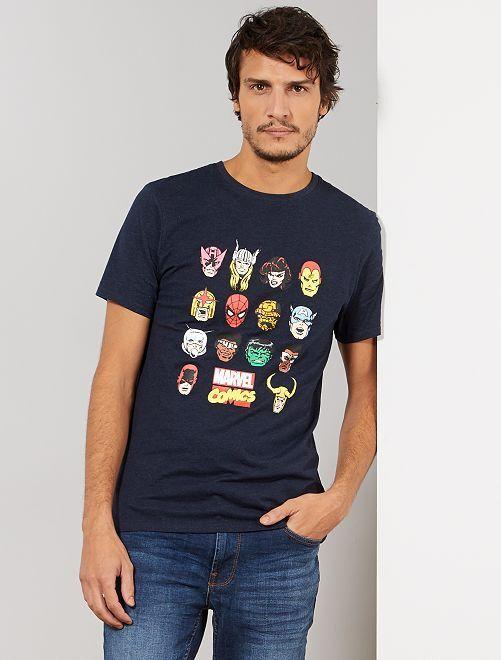 Camiseta 'Marvel'                     AZUL