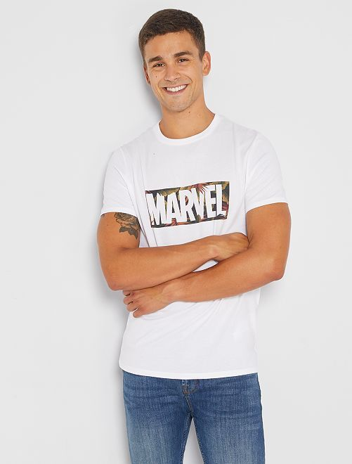 Camiseta 'Marvel'                             BLANCO