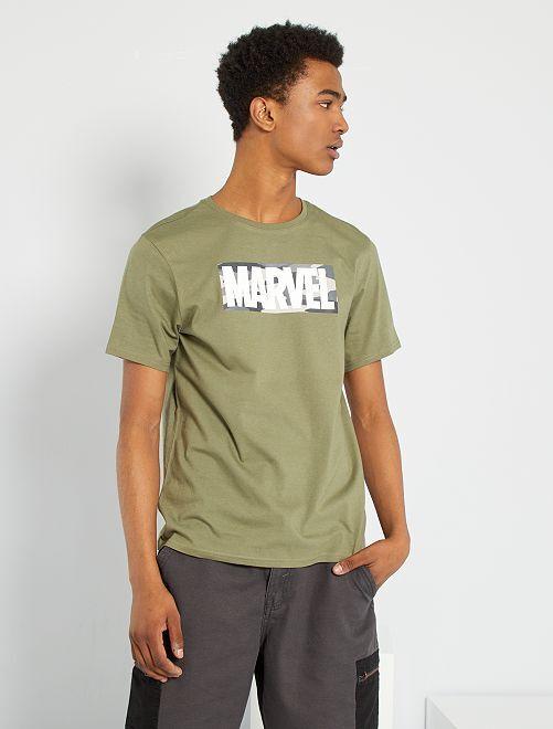 Camiseta 'Marvel' eco-concepción                                         KAKI