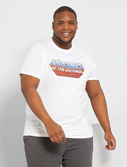 Camiseta 'Masters of the Universe'                             blanco