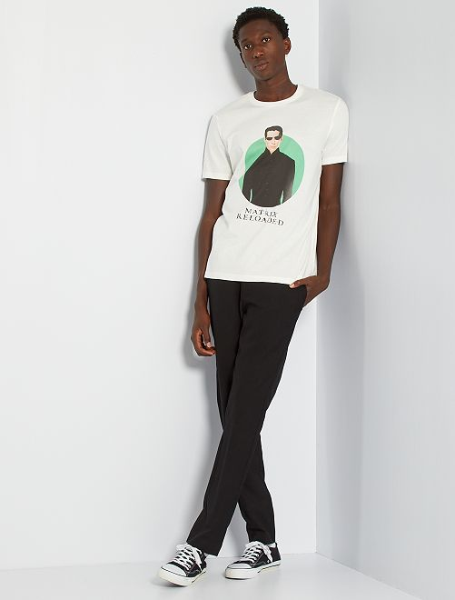 Camiseta 'Matrix'                             blanco nieve