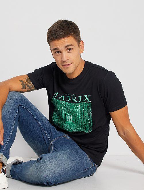 Camiseta 'Matrix'                             negro