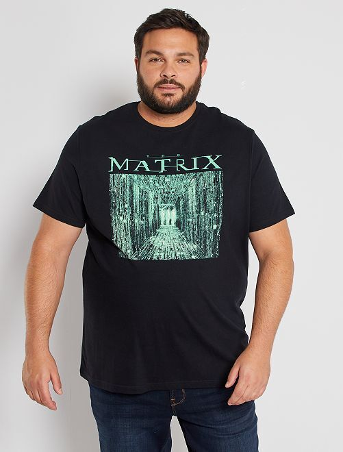 Camiseta 'Matrix'                             negro