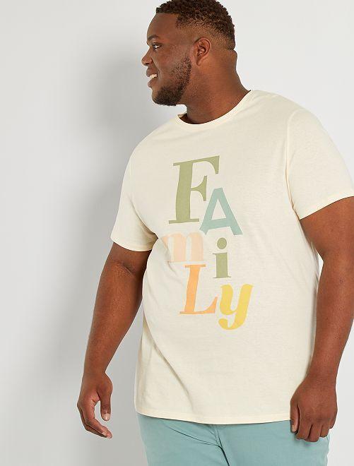 Camiseta mensaje estampado                                         BLANCO