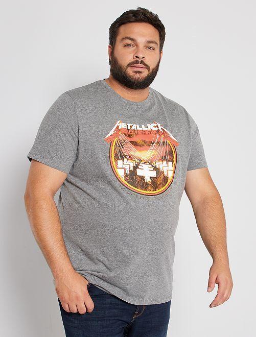 Camiseta 'Metallica'                             GRIS