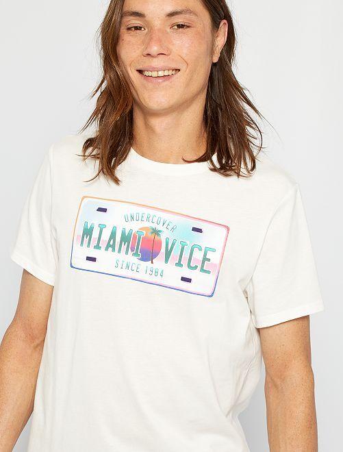 Camiseta 'Miami Vice'                                                     BEIGE