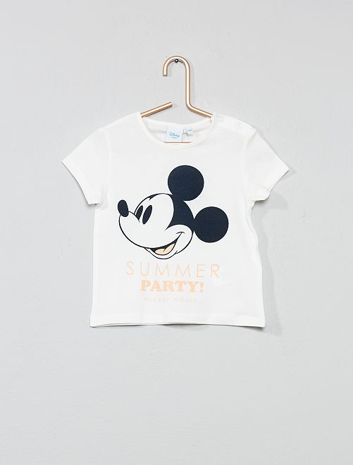 Camiseta 'Mickey'                                         BLANCO Bebé niño