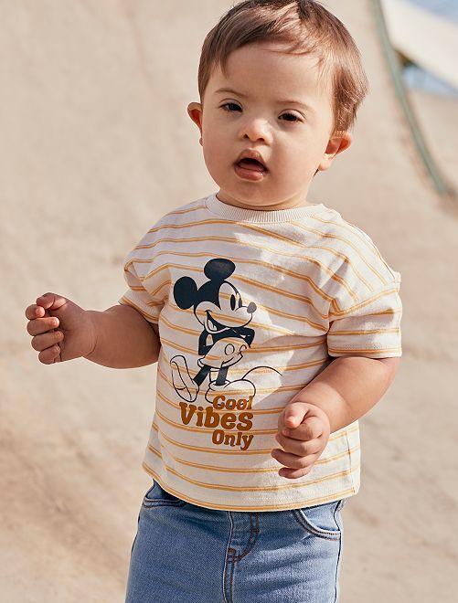 Camiseta 'Mickey'                             BLANCO/amarillo