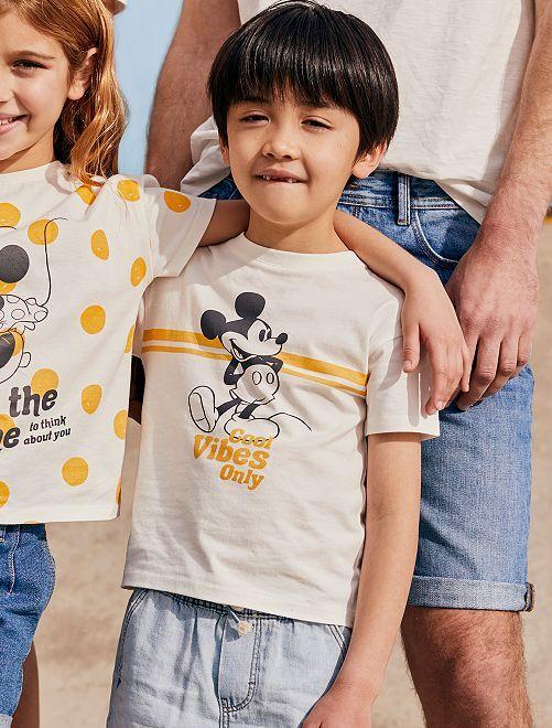 Camiseta 'Mickey' 'Disney' de algodón puro                             BLANCO