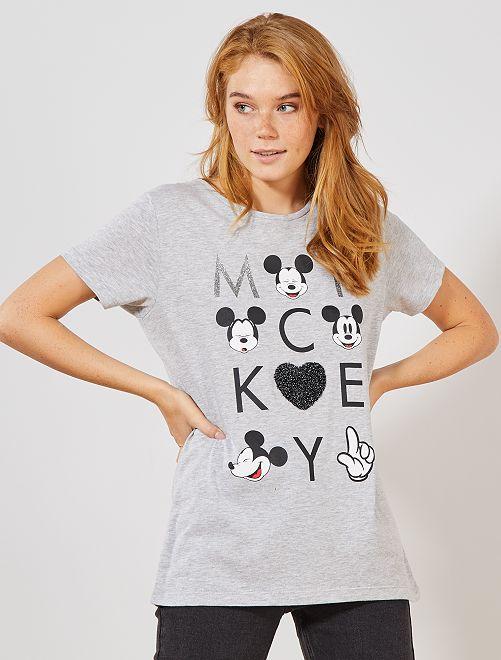 Camiseta 'Mickey'                             gris chiné
