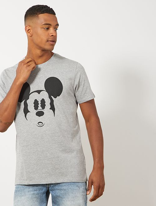 Camiseta 'Mickey Mouse'                             gris chiné Hombre