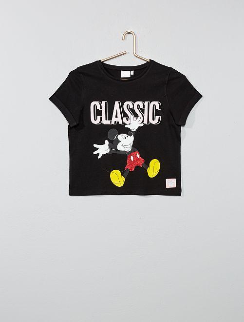 Camiseta 'Mickey'                             negro Joven niña