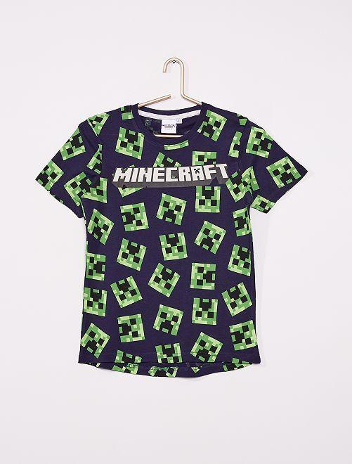Camiseta 'Minecraft'                             negro/verde