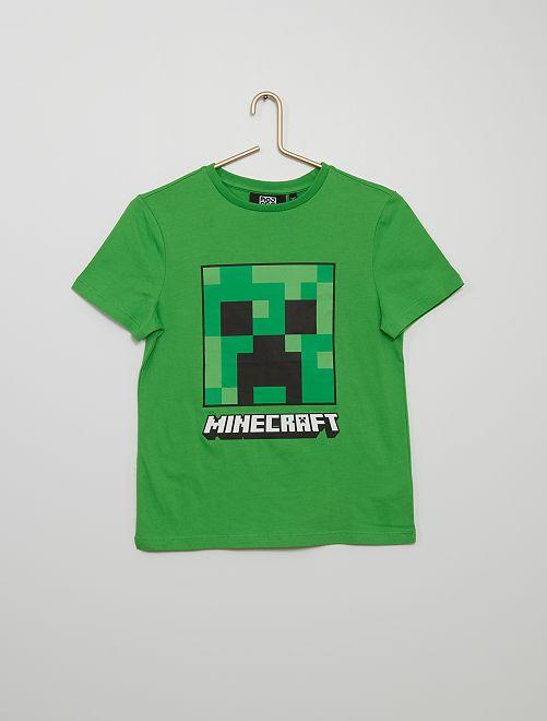 Camiseta 'Minecraft'                             verde