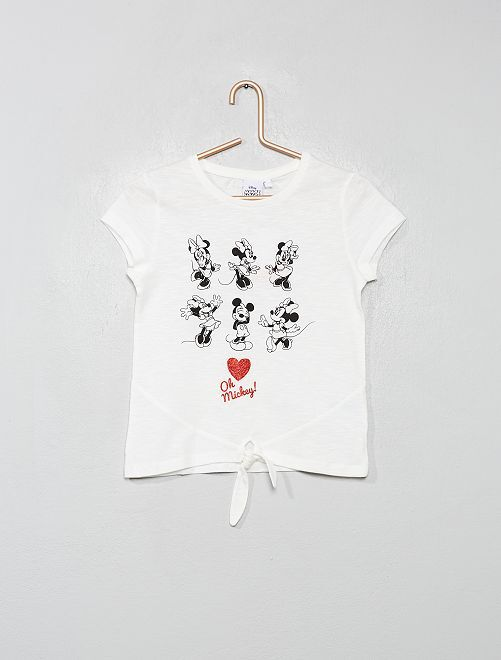 Camiseta 'Minnie' con lazo                                                     BLANCO