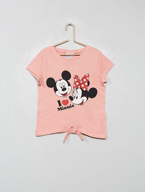 Camiseta 'Minnie' con lazo                                                     ROSA