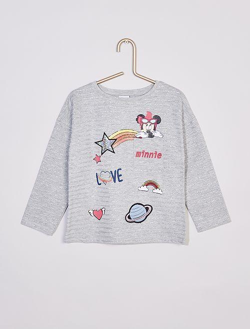 Camiseta 'Minnie Mouse' de 'Disney'                                         gris