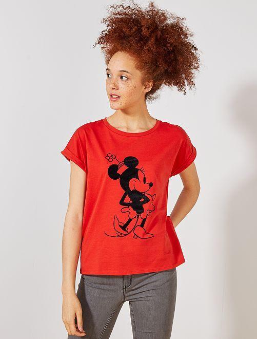 Camiseta 'Minnie'                             ROJO Mujer talla 34 a 48
