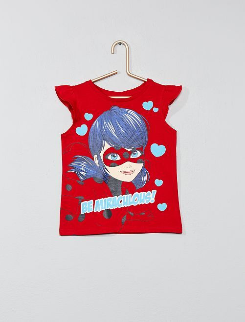 Camiseta 'Miraculous'                     rojo Chica