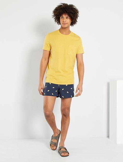 Camiseta moteada eco-concepción                                                                                                                 amarillo anaranjado