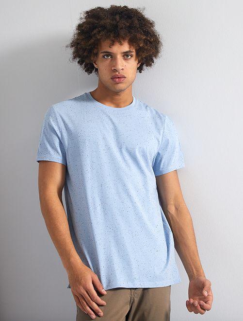 Camiseta moteada 'eco-concepción'                                         AZUL