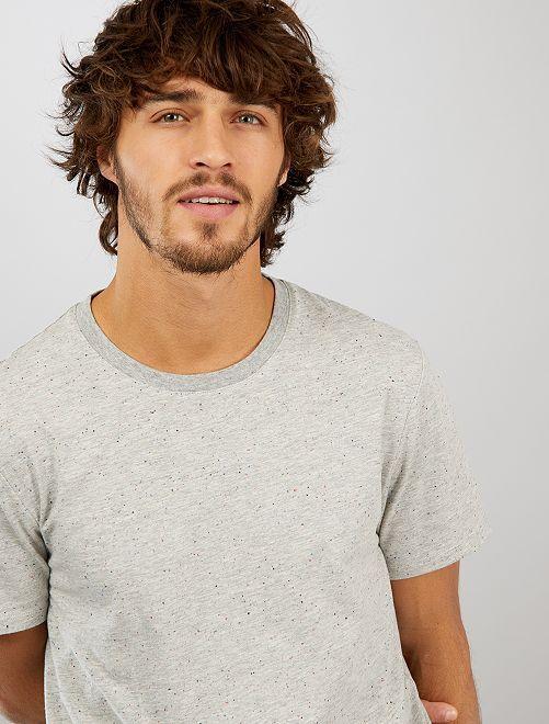Camiseta moteada 'eco-concepción'                                                                 GRIS