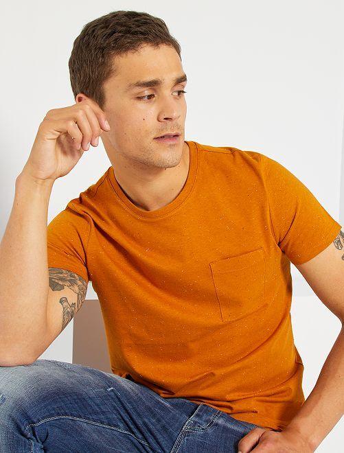 Camiseta moteada eco-concepción                                                                 marrón