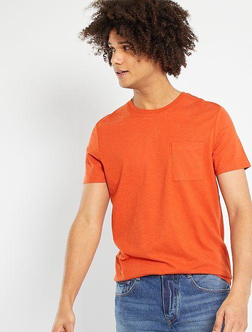Camiseta moteada eco-concepción                                                                 naranja