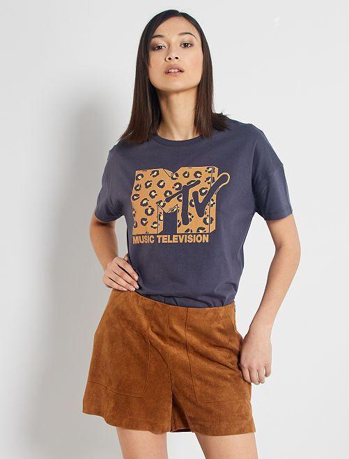 Camiseta 'MTV'                             NEGRO