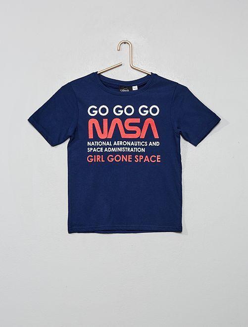 Camiseta 'Nasa'                             azul marino