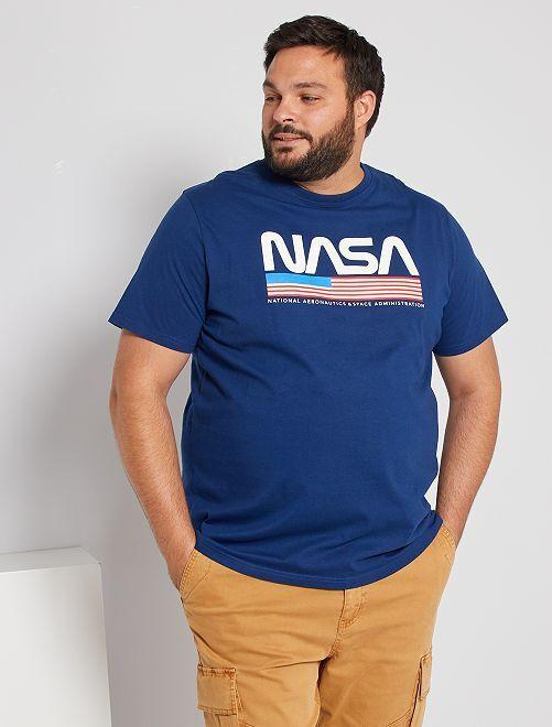 Camiseta 'NASA'                             azul