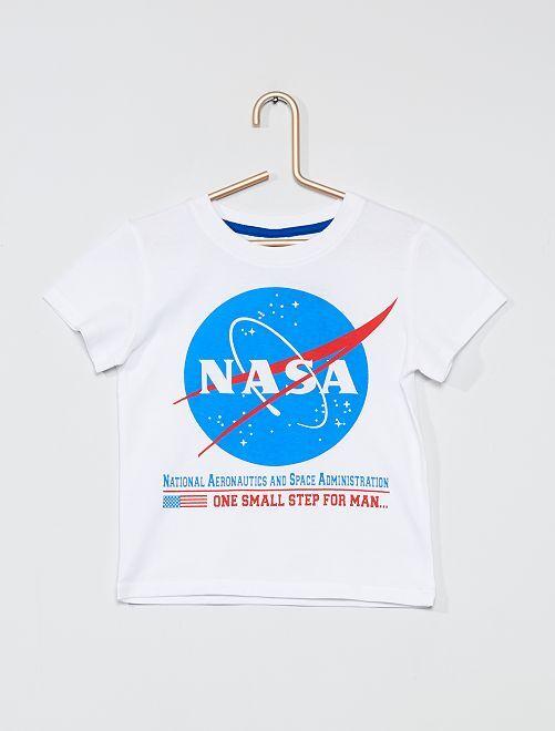 Camiseta 'NASA'                                         blanco