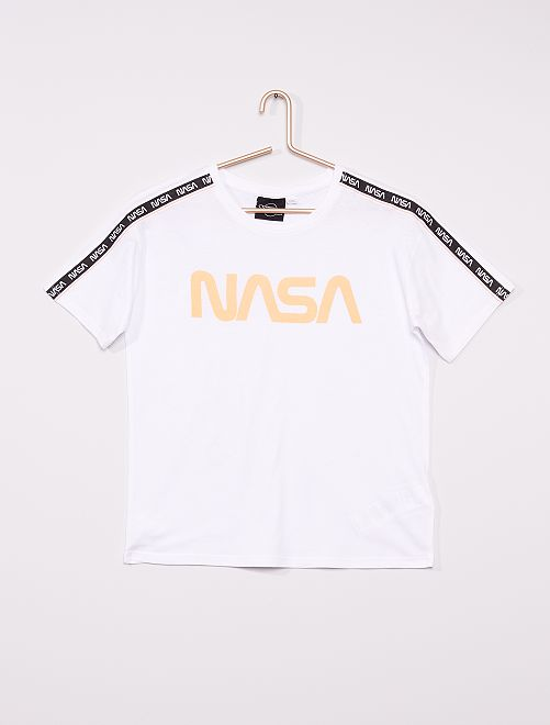 Camiseta 'NASA'                             blanco