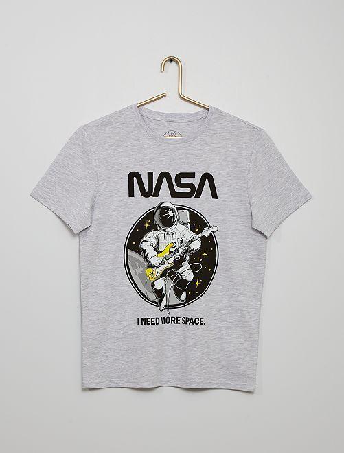 Camiseta 'NASA'                             gris chiné