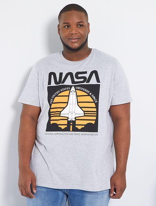 Camiseta 'NASA'                             gris