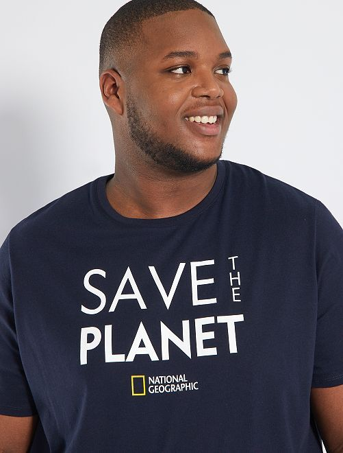 Camiseta 'National Geographic' eco-concepción                             AZUL