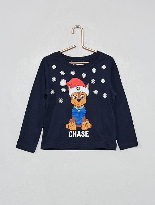 Camiseta navideña 'La Patrulla Canina'                                         azul