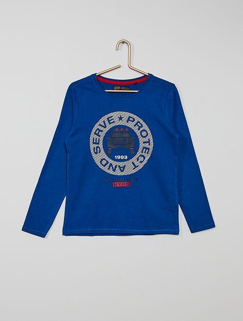 Camiseta 'NYPD' 'eco-concepción'                                         azul