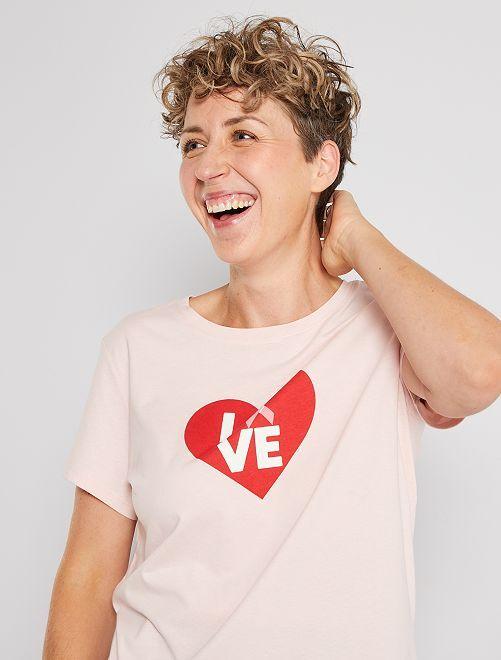 Camiseta 'octubre rosa' eco-concepción                                                     ROSA